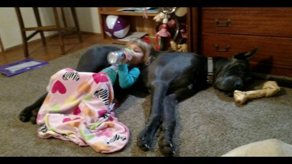 Neveah and Her Dane